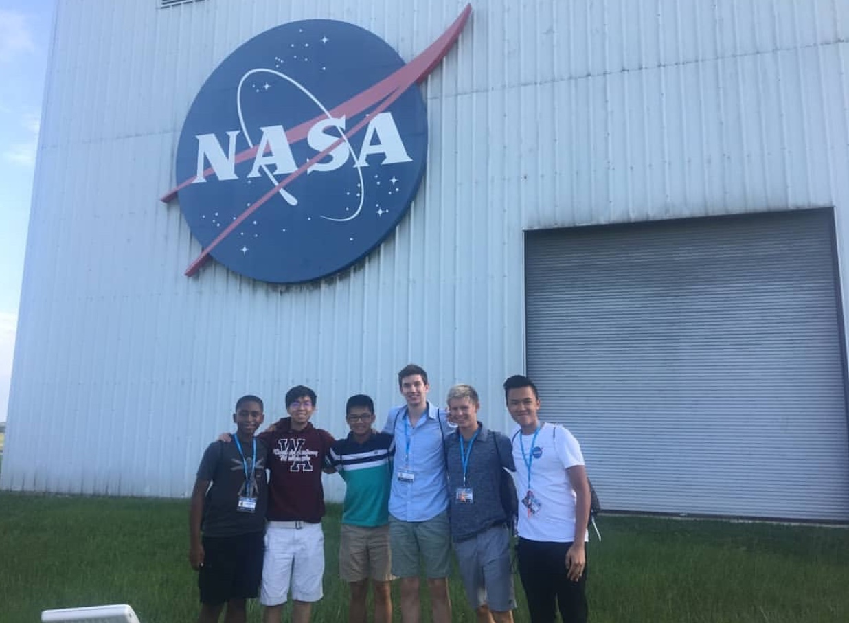 Keegan Fong attended a NASA internship in July.