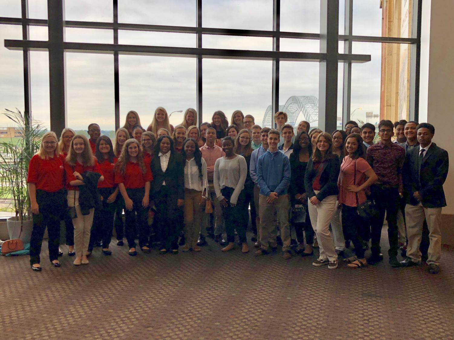 Arlington's HOSA wraps smiles as they wrap up fall leadership conference