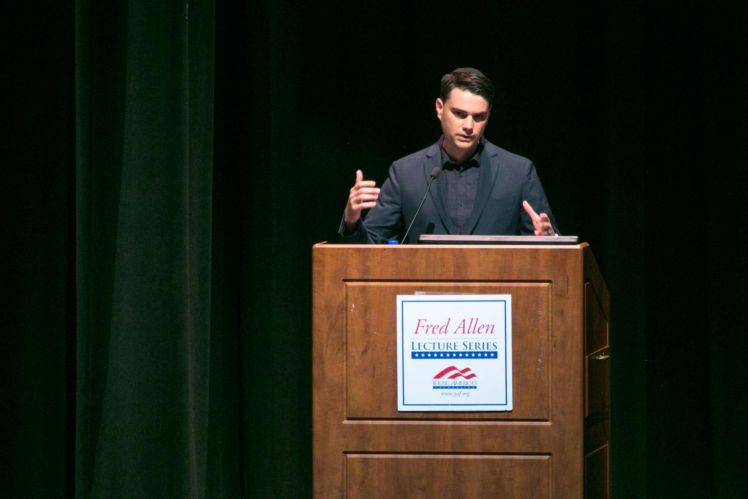 Ben Shapiro speaks at the University of Memphis.