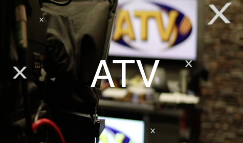 Screenshot from ATV introduction, showing behind the scenes camera shot.